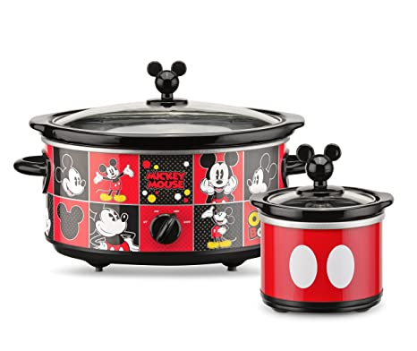 Amazon.com: Disney DCM-502 Mickey Mouse Oval Slow Cooker with 20 ...
