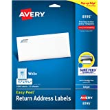 "Avery Return Address Labels with Sure Feed for Inkjet Printers, 2/3"" x 1-3/4"", 1,500 Labels, Permanent Adhesive (8195…"