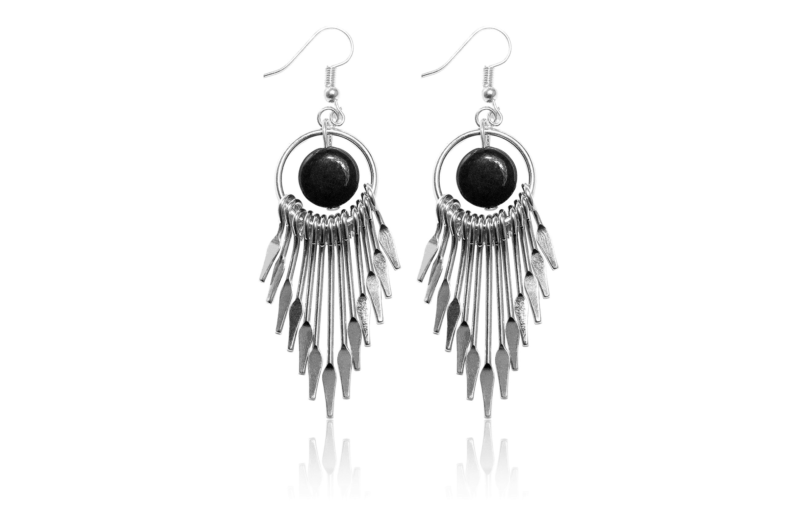 Women's Fashion Tassel Bohemiah Dangle Earrings Elegant Crafted In Silver Plated Best Gift