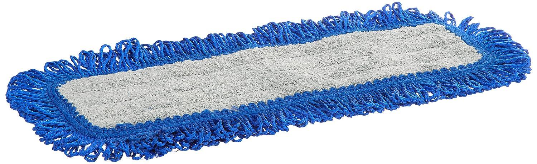 Velcro Back Gray//Blue 18 Length Impact LFFD18 Fringe Hook-and-Loop Dust Mop Microfiber Pad 8 Bags of 12