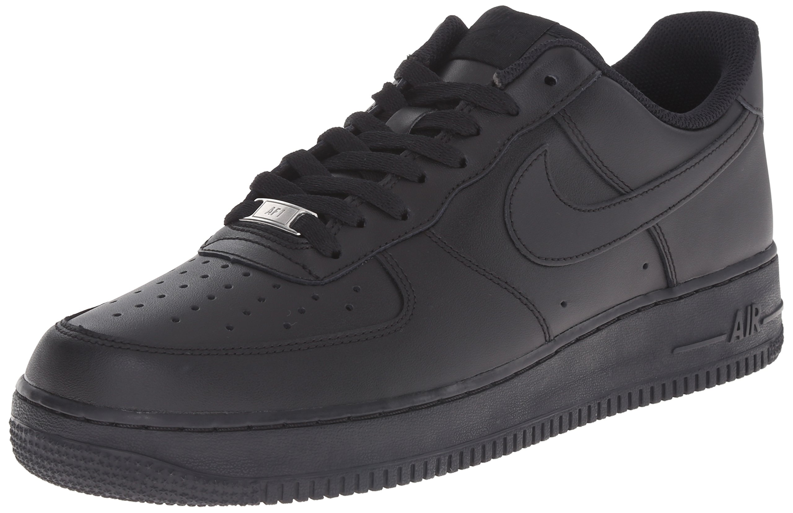 Nike Mens Air Force 1 Low 07 Basketball Shoes Black/Black 315122-001 Size 12 by Nike