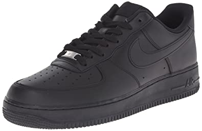 sale retailer 06b80 7d24a NIKE Men s Air Force 1 07, Black Black, ...