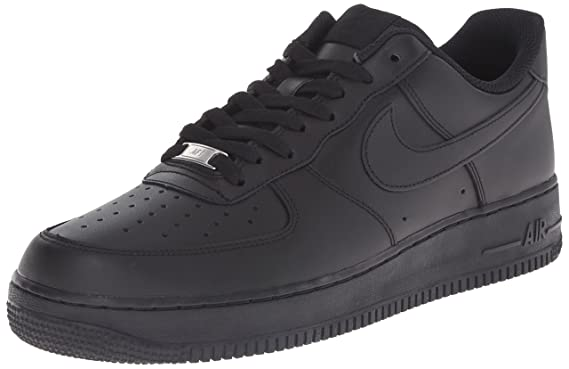 hot sales 1d253 8d39d Nike Air Force 1 Low Black Youths Trainers Size 3 UK