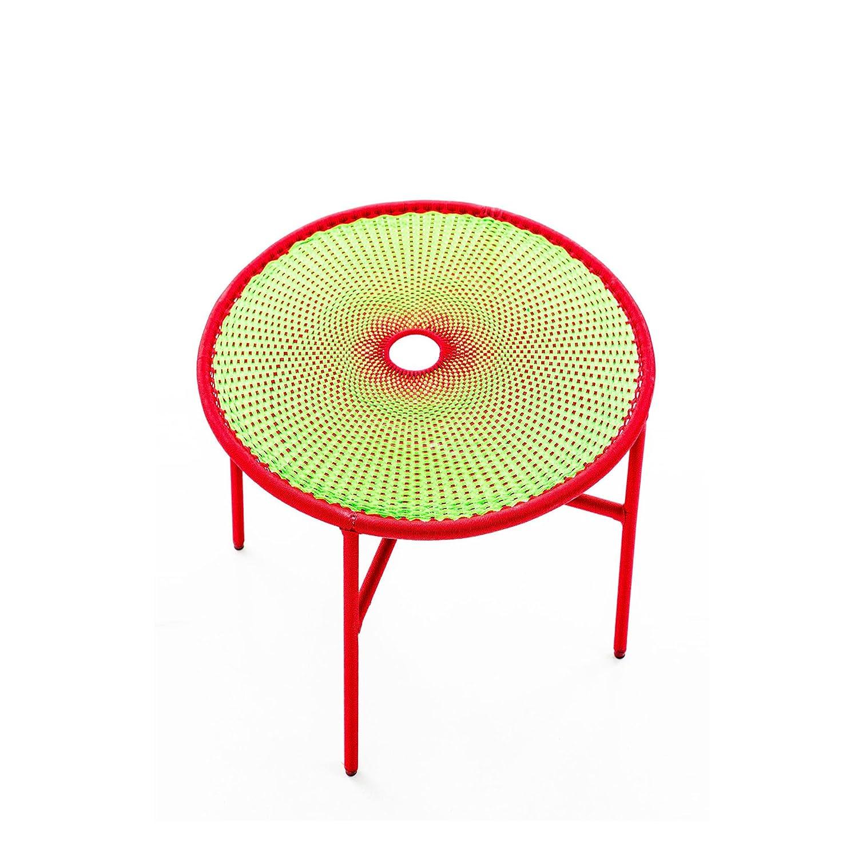 Banjooli Beistelltisch hellgrün/rot