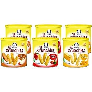 Gerber Graduates Lil' Crunchies - Variety Pack - 1.48 oz - 6 pk