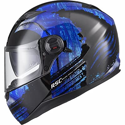 Agrius Rage SV Claw Motorcycle Helmet XL Gloss Black/Blue