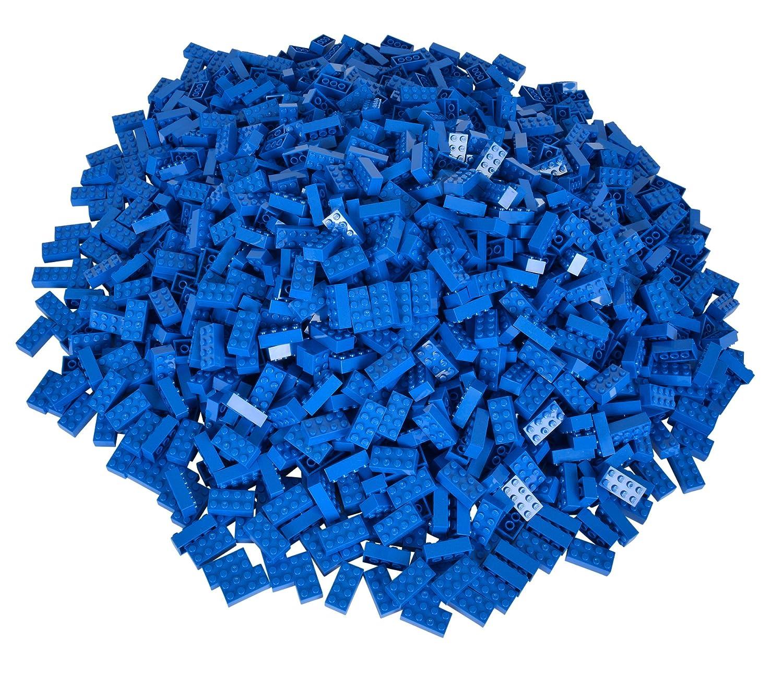 Simba 104118925 - Blox 500 blaue 8er Bausteine Simba Toys