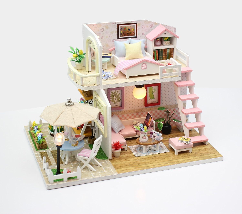 Amazoncom Flever Dollhouse Miniature DIY Music House