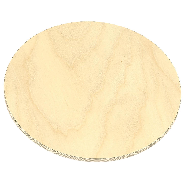 AUPROTEC Multiplexplatte 27mm rund /Ø 600mm Holzplatten von 20cm-148cm ausw/ählbar runde Sperrholz-Platten Birke Massiv Multiplex Holz Industriequalit/ät als Tisch-Platte Bistro-Tisch etc verwendbar