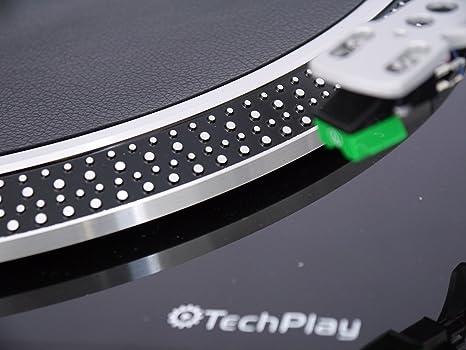 techplay iep212 piel sintética anti estática Tocadiscos ...