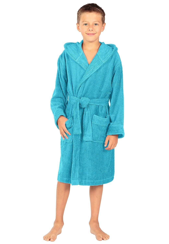 TexereSilk Texere Boy's Hooded Terry Cloth Bathrobe - Soft Cute Gifts For Boys
