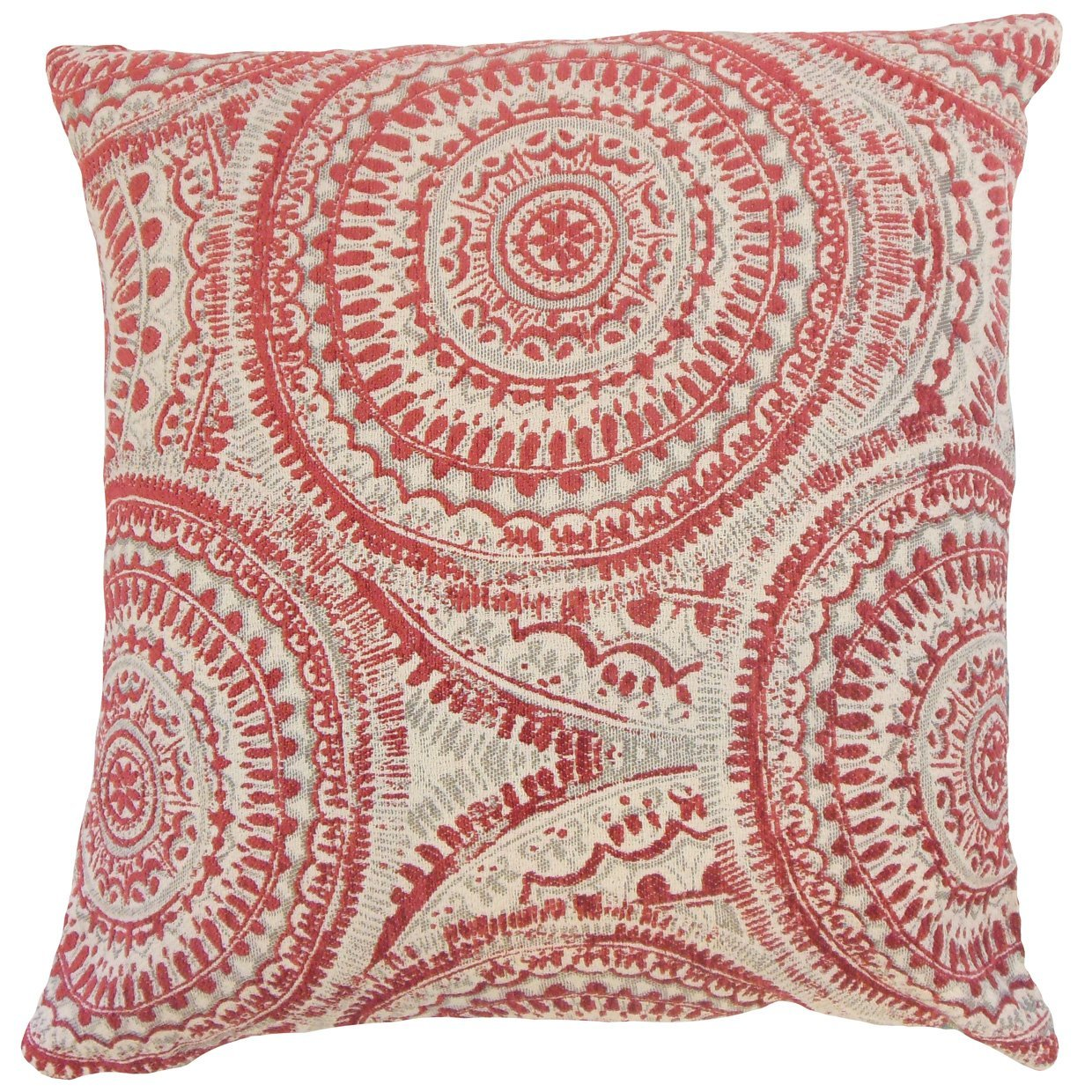 The Pillow Collection Chione Graphic Bedding Sham Cherry Standard//20 x 26