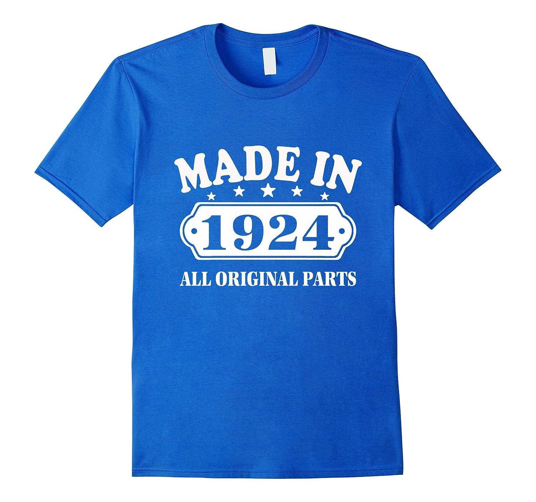 93th Birthday T-Shirt Vintage Made in 1924 ideas Man Shirt-PL
