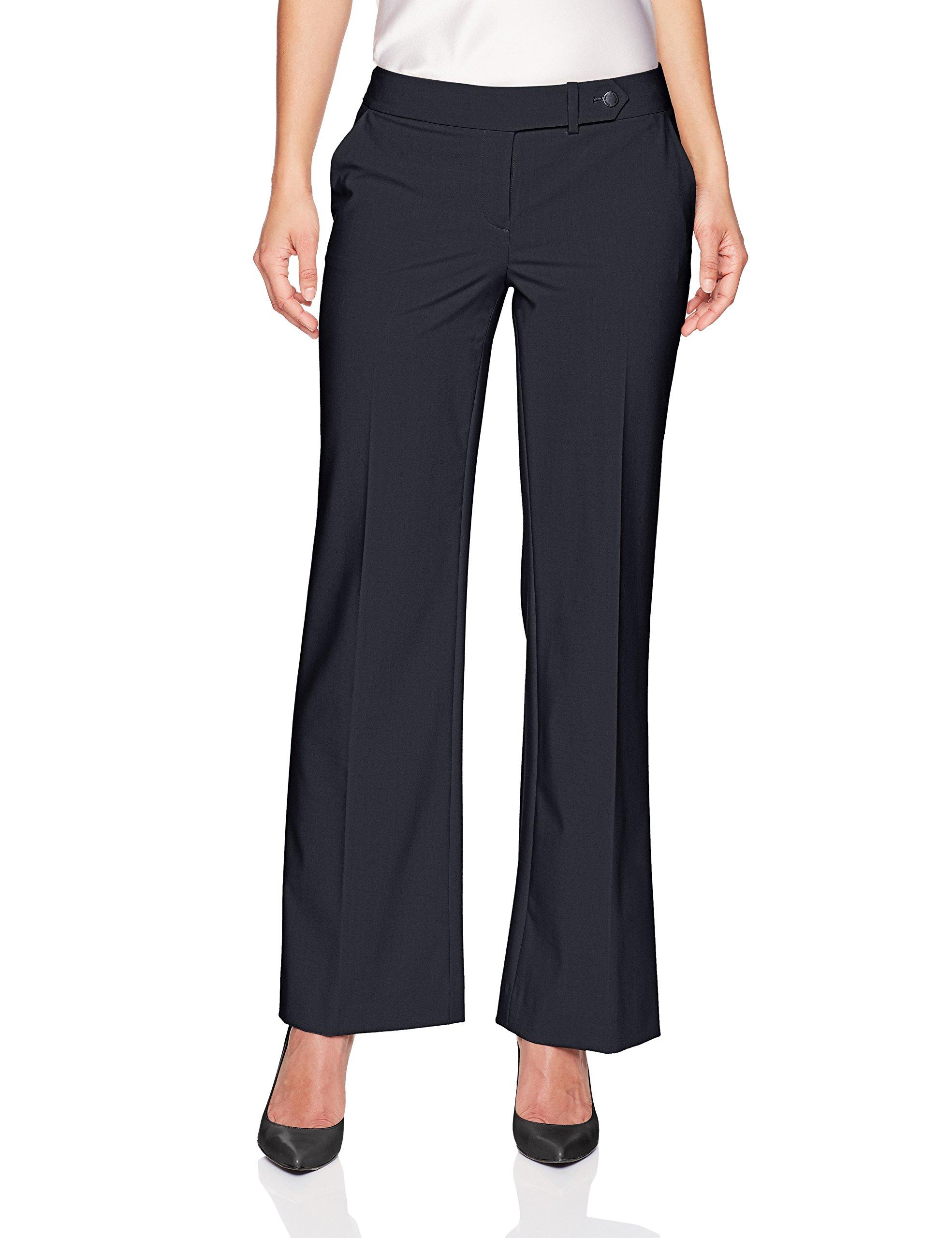 Calvin Klein Women's Petite Classic Fit Lux Pant, Navy, 12P