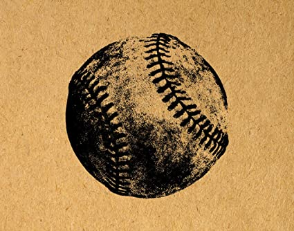 Amazon.com: Baseball Wall Art Rustic Baseball Decorative Poster or ...