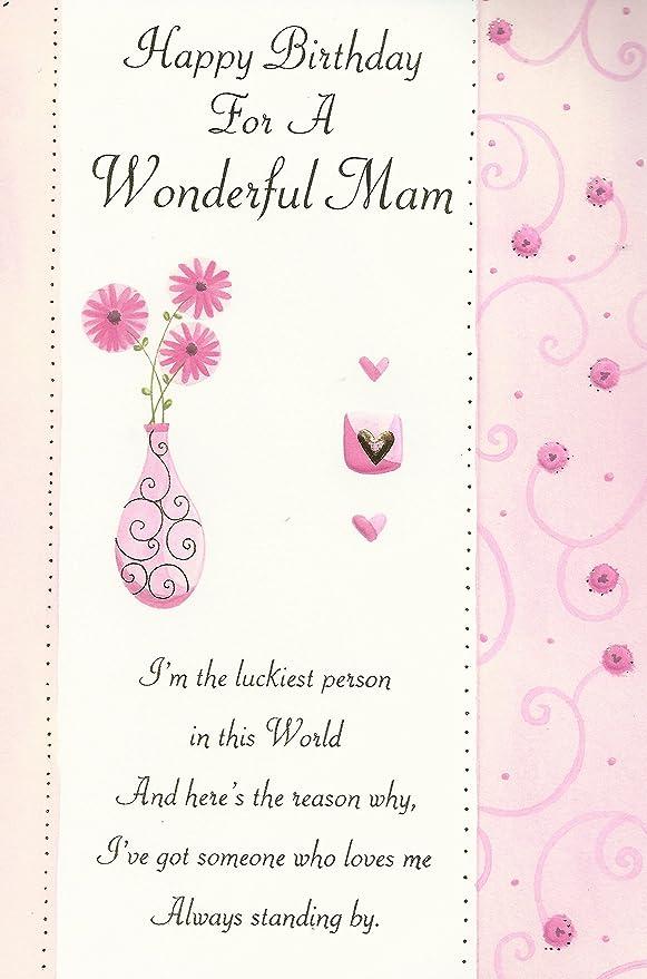 Feliz cumpleaños para una mamá maravillosa tarjeta: Amazon ...