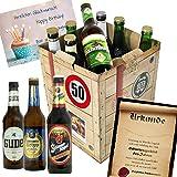 Geburtstagsgeschenke für Männer zum 50. - Bier Geschenk Box + gratis Geschenkkarten + Bierbewertungsbogen. Henninger + Schlappeseppel + Köstritzer + ...Bierset + Biergeschenk. Biergeschenke Geschenkideen. Besser als Bier selber machen oder selbst brauen: Geschenk 50 Geburtstagsgeschenke Geschenke für Männer Geschenkidee Geschenk Idee Geschenk für Freund 50 Präsentkorb 50 Geburtstag Geschenken Geschenke für Männer zum Geburtstag 50 Männer