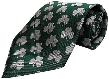 Amazon.com: Irlanda Repeating Shamrock Tie: Sports & Outdoors