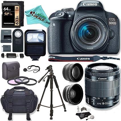 Amazon com : Canon EOS Rebel T7i (800D) Camera, EF-S 18-55