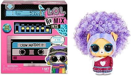 Amazon.com: L.O.L. Surprise! Remix Pets – 9 Surprises with Real Hair & Surprise Song Lyrics: Toys & Games