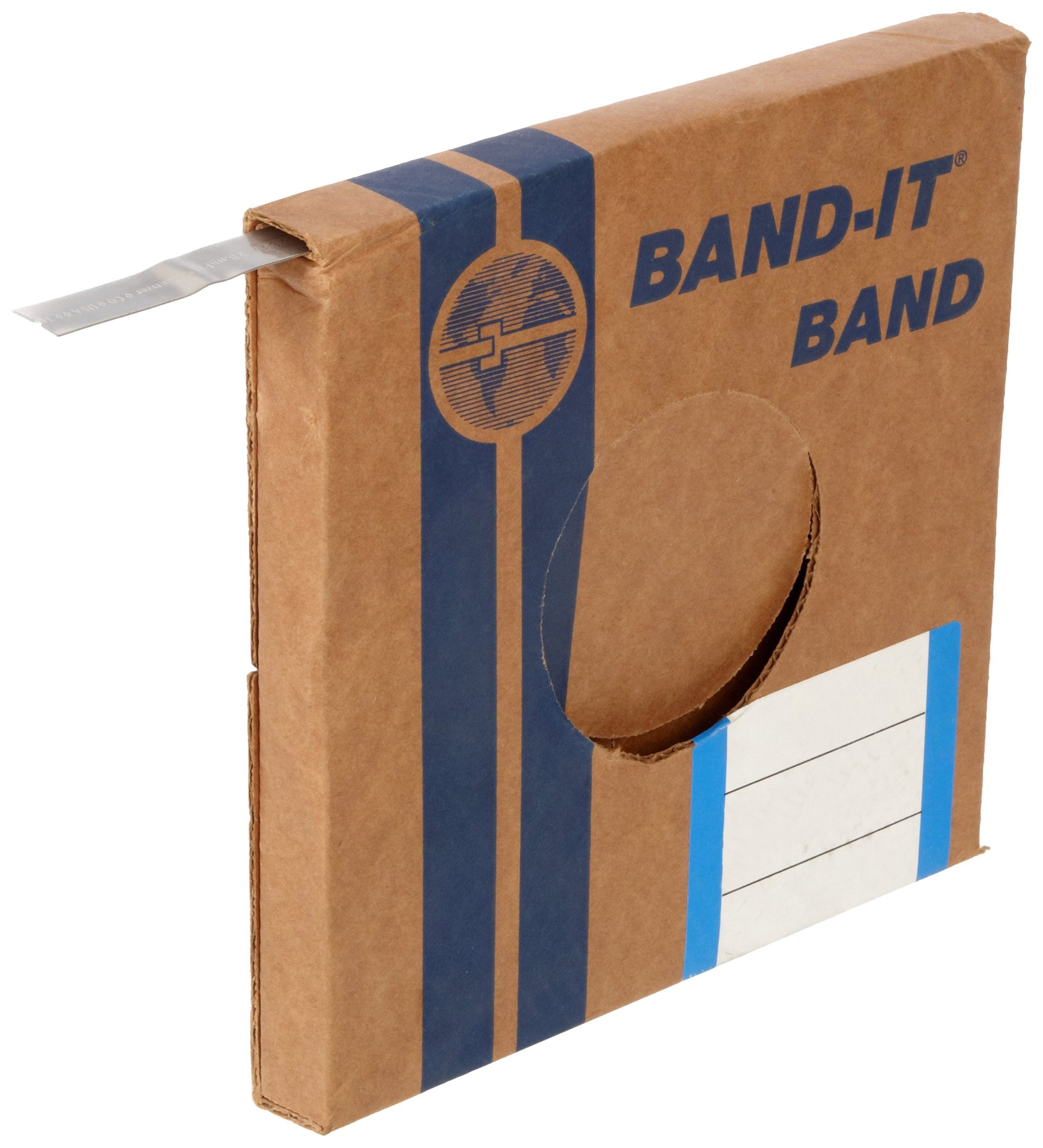 BAND-IT C40699 316 Stainless Steel Uncoated Band, 3/4'' Width X 0.030'' Thick, 100 Feet Roll