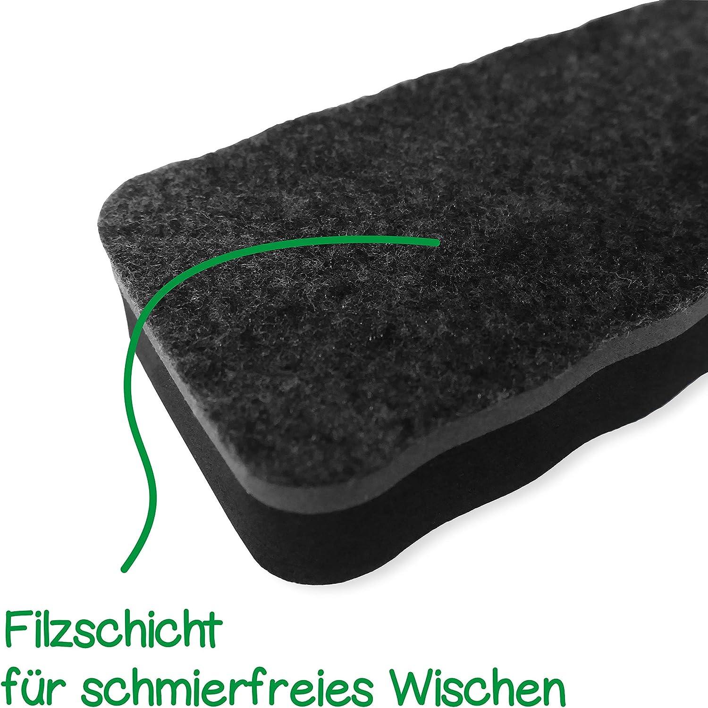 Zuverl/ässiger Reiniger f/ür Whiteboards Extra Starker Magnet Whiteboard Zubeh/ör Schwarz Whiteboard Schwamm Magnetisch XXL