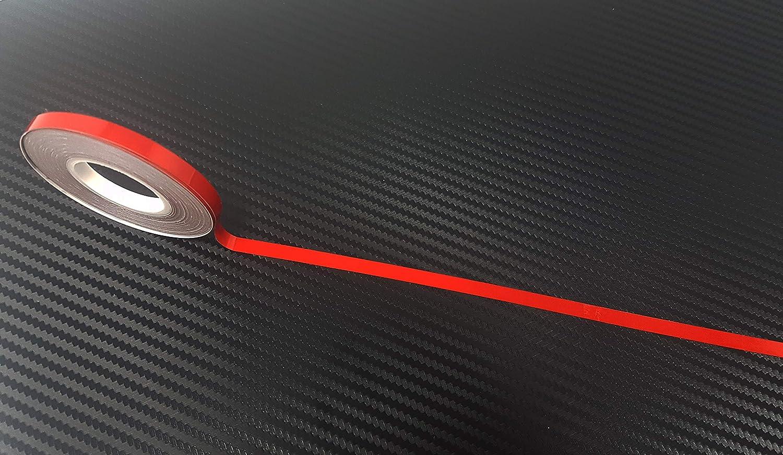 5/mm x 6/m Quattroerre 10352/Reflektierende Klebestreifen f/ür Felgen Auto Rot
