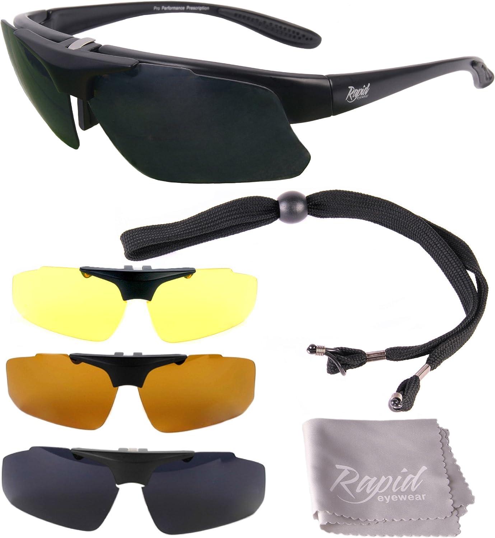 Rapid Eyewear Modelglasses 'Innovation Plus' GAFAS DE SOL PARA LENTES GRADUADAS para RC, y deportes. Lentes polarizadas intercambiables. Para hombre y mujer. Protección UV400