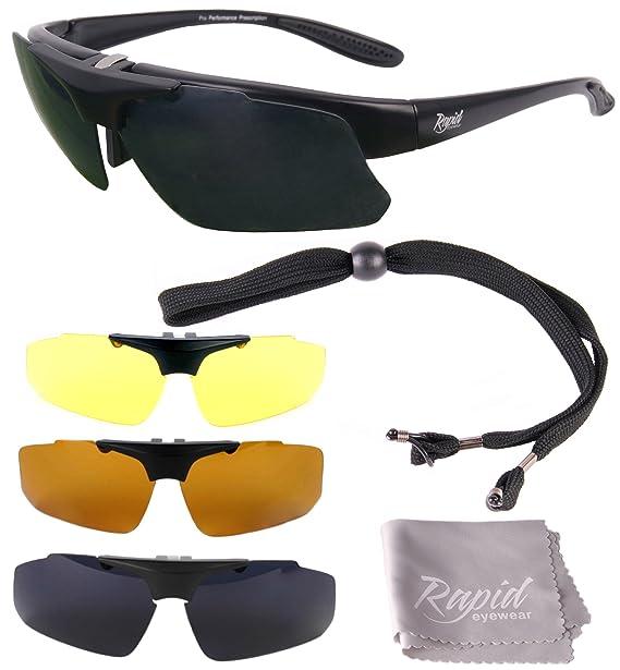 Modelglasses: Gafas de sol INNOVATION PLUS, negras RX GRADUADAS, POLARIZADAS para RC,