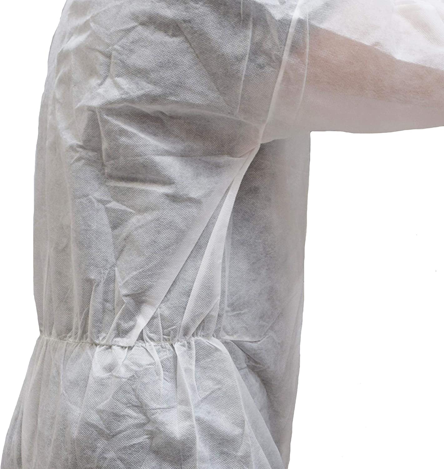 Polypropylene Ex-Pro Disposable Protective Overall Coverall Suit Light Duty White