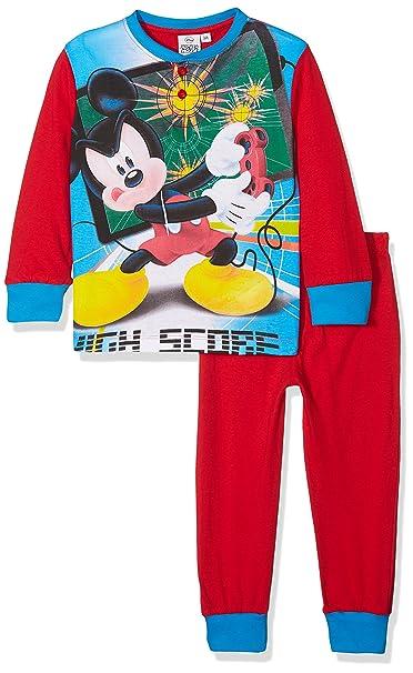 Disney Mickey Mouse, Pijama para Niños, Rojo, 7 años