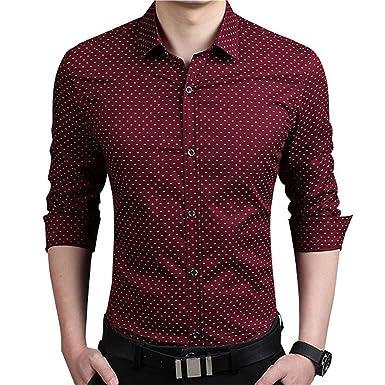 a295dee870b B dressy Slim 5XL Mens Dress Shirts Autumn New Cotton Long Sleeve Business  Men Shirt Slim