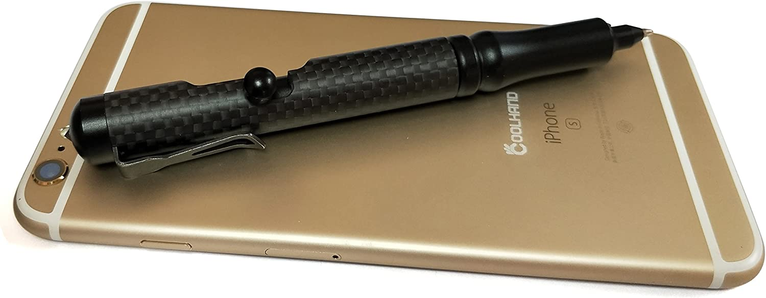 Stainless Steel 5.1/'/' Bolt Action Cannon Style Tactical Pen Self Defense Tool