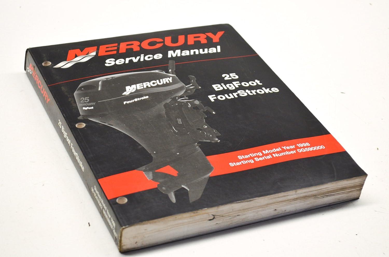 Amazon.com: Mercury Outboard Service Manual 25 Big Foot 90-854785r2 4 Stroke:  Automotive