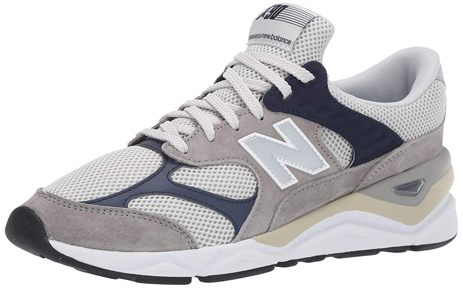5949c8794d New Balance Men's X-90 Suede Trainers, Grey: Amazon.co.uk: Clothing