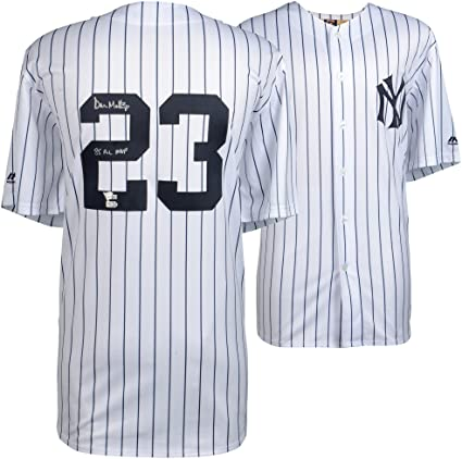 """3fd9f44e0 Don Mattingly New York Yankees Autographed Majestic Replica White  Cooperstown Collection Jersey with""""85 AL"""