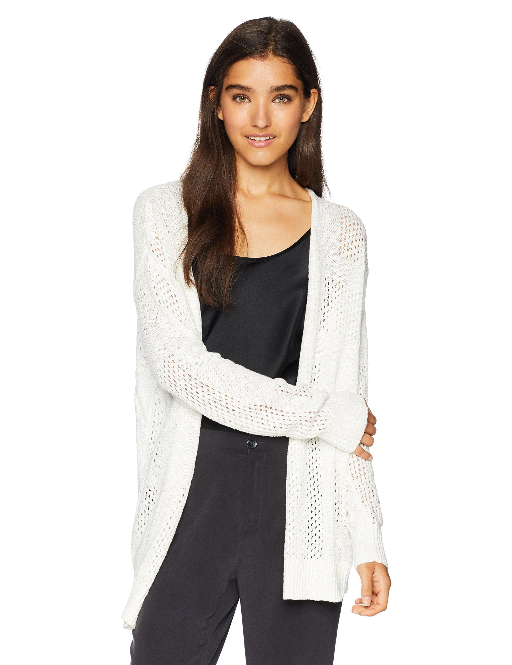Roxy Junior's Summer Bliss Cardigan Sweater, Marshmallow, L