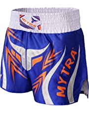 Mytra Fusion Farabi Fight Gear Pro Boxeo Pantalones Cortos para Muay Thai Boxeo, Fitness Gimnasio