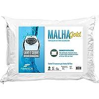 Travesseiro Malha Gold Integralmente Lavável Para Fronhas Revestimento Poliester Fibrasca Branco 50x70 Fibra de Poliéster Siliconizada