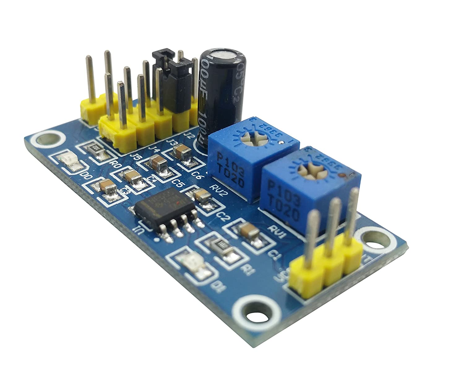 Initeq 2 Pack Ne555 555 Timer Breakout Module Ic Ne555p Dip 8 Timers New High Quality Integrated Circuit Adjustable Square Wave Pulse Generator Shield Industrial Scientific