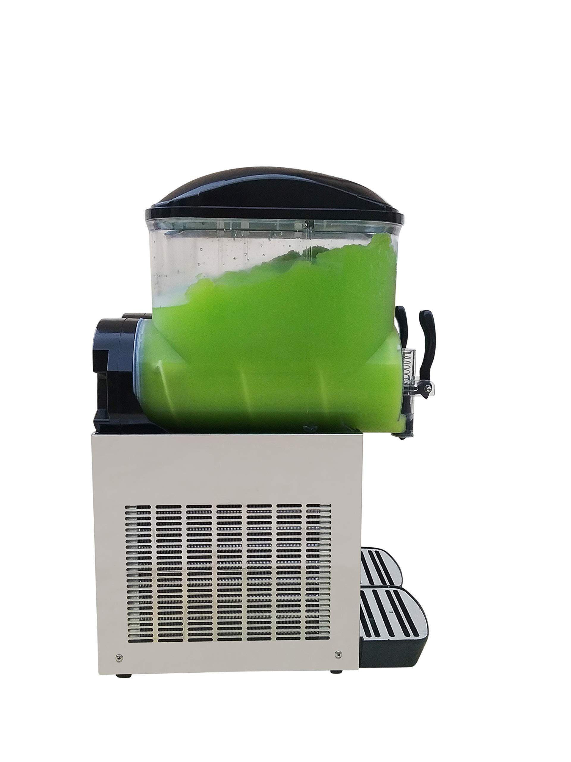 Brand : BRAVO ITALIA 2 bowls slushie machine 3.2 gallons each bowl , 100 CUPS ,COMMERCIAL GRADE MACHINE ,Margarita Machine , Slushie Maker , Margarita Maker , Slushy Machine by BRAVO ITALIA (Image #3)