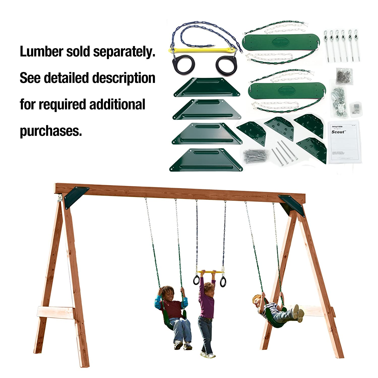 Amazon Com Scout Custom Diy Play Set Hardware Kit Wood Not Included Toys Games
