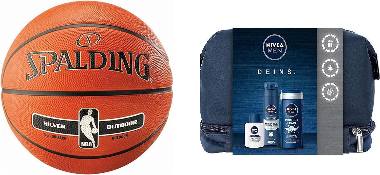 Spalding NBA Silver – Balón de Baloncesto para Exterior ...