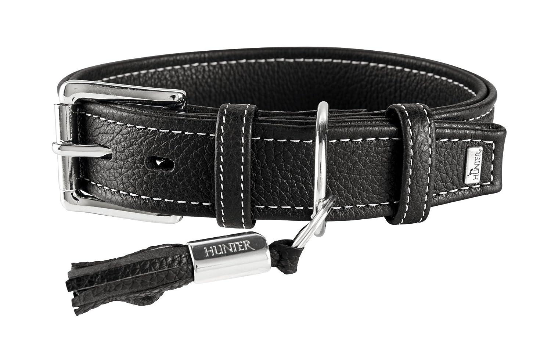 Black 44 52 cm, 3,5 cm breit black 44 52 cm, 3,5 cm breit Cannes Hunter Collar Nappa Cowhide