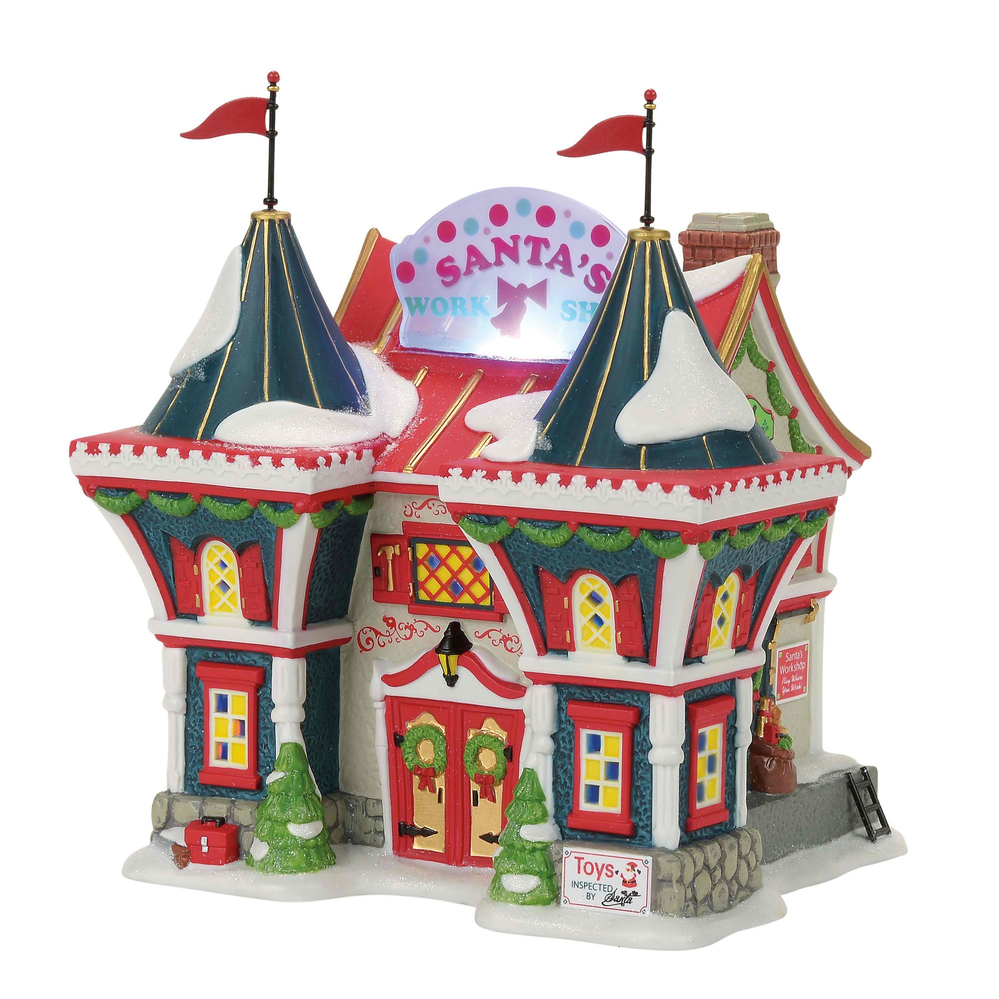 Department 56 North Pole Series Santa's Workshop Village Lit Building, Multicolor by Department 56
