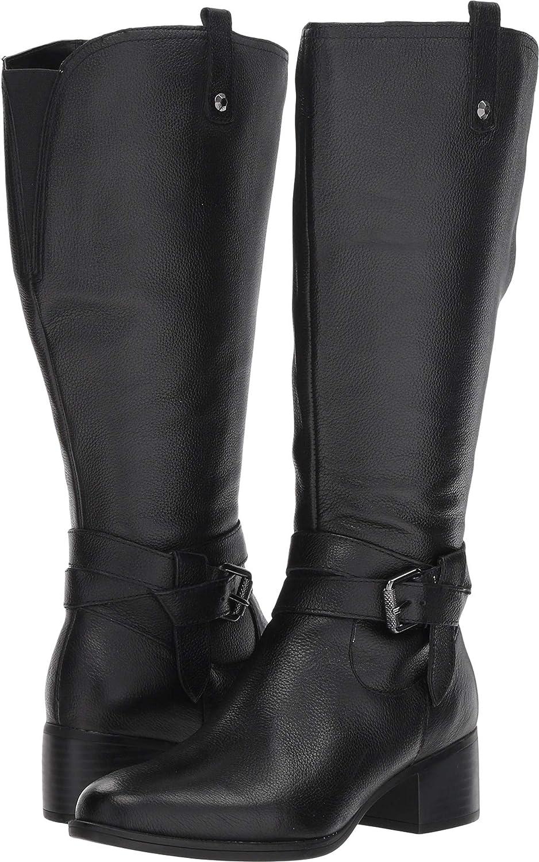 Black Wide Calf Leather Naturalizer Women's Kim