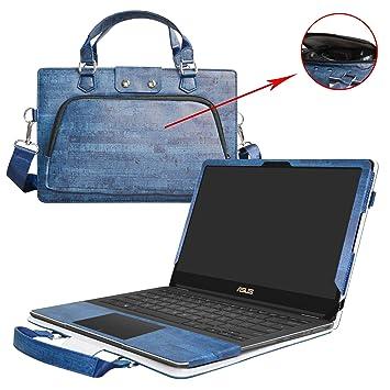 ASUS UX370UA Funda,2 in 1 Diseñado especialmente La Funda protectora de cuero de PU + la bolsa portátil para 13.3