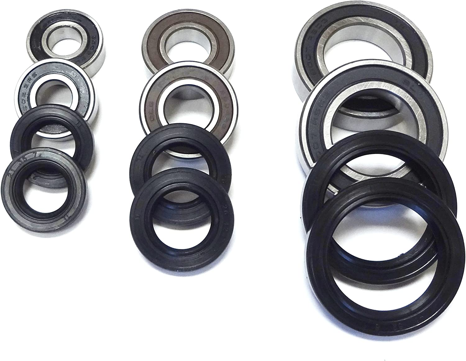 All Front Rear Wheel Axle Bearings and Seals Raptor YFM350 2004-2013