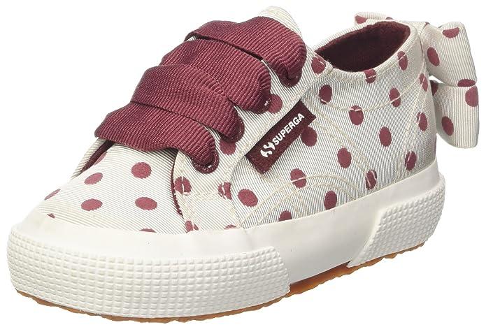 Superga 2750-Grossgrainflockedotsj, Zapatillas para Niñas, Multicolor (Pink-Fuxia Dots G11), 24 EU