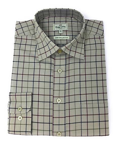 9611b1d5 Hoggs of Fife Chieftain Premier Tattersall Shirt: Amazon.co.uk: Clothing